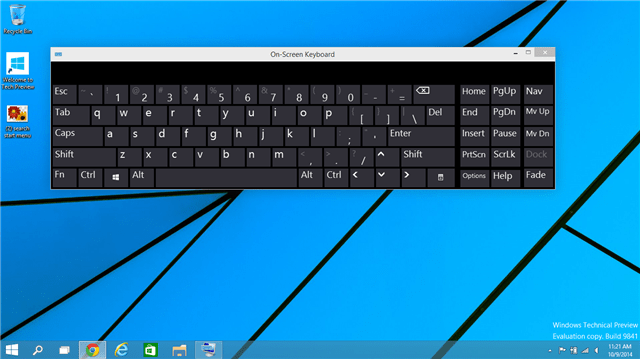 Windows 10 On-Screen Keyboard Gets Predictive Text