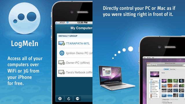 control iphone from computer the logmein app lets your pc or mac from iphone amp 13864