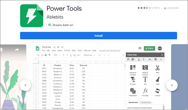 Power Tools: One of the best Google Sheets Add-ons