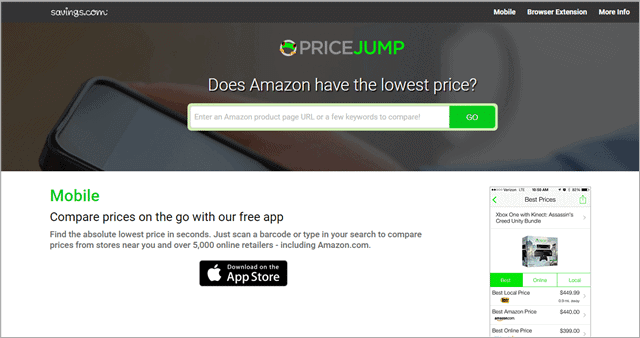 pricejump price tracking app