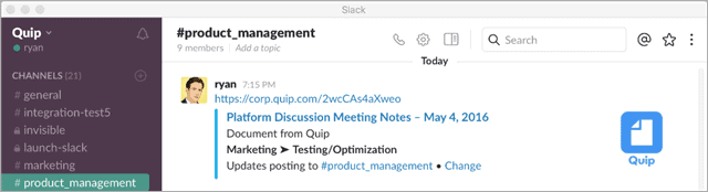 quip-slack-integrations