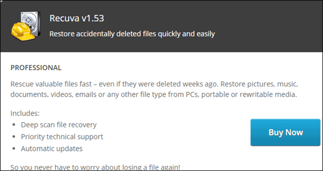 recuva for how to restore deleted files from recycle bin
