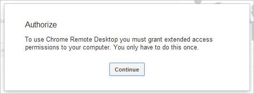 Authorizing-Chrome-Remote-Desktop