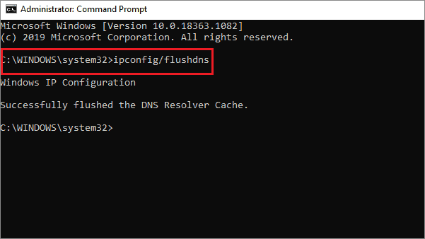run the command to fix discord not opening windows 10