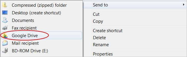 Adding-Google-Drive-to-Windows-Send-To-Menu