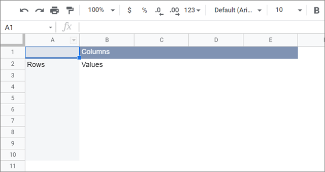 View the sample pivot table