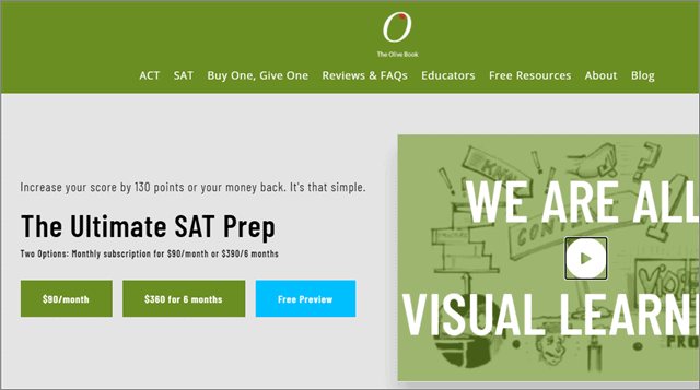 The Ultimate SAT Prep from Olive Book