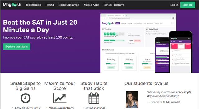 SAT Prep Course from Magoosh