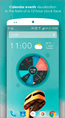 sectograph android widgets