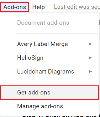 Select Get add-ons