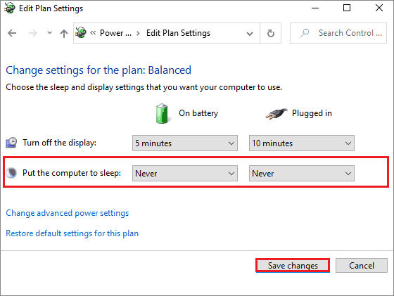 select never to fix windows 10 stuck on restarting