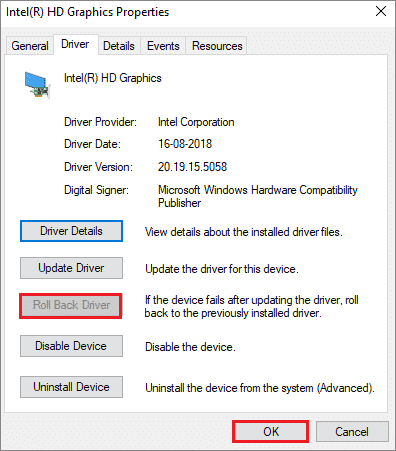 select roll back driver to fix hdmi port not working