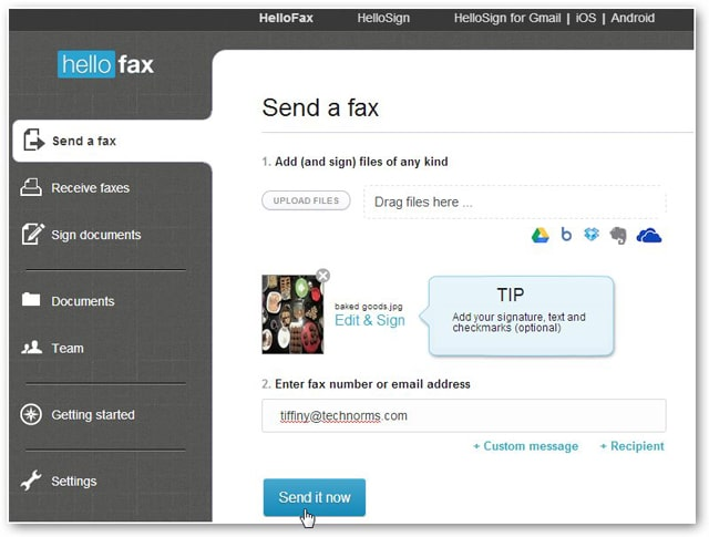 viewing-the-send-a-fax-page-in-hellofax