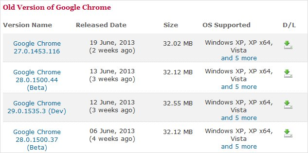 older-versions-of-chrome-available-online