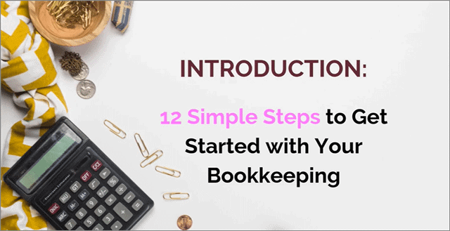simple steps to get started with bookkeeping