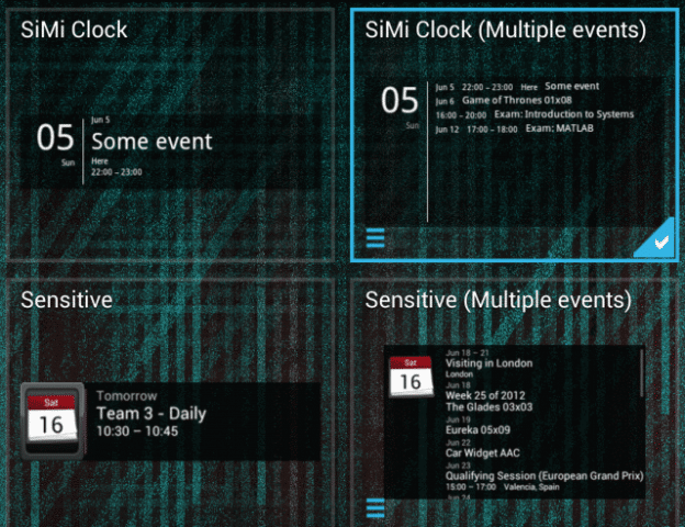 With four different widgets to choose from, Simple Calendar Widget can be tweaked to suit your needs.
