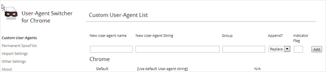 settings-are-for-user-agent-switcher-for-chrome