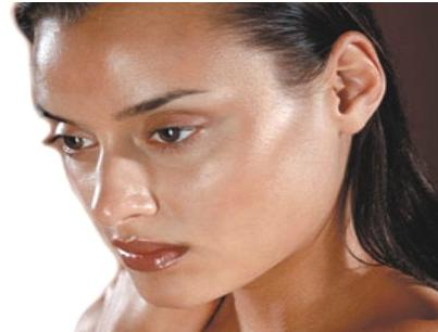 shiny-skin-before-the-matte-effect