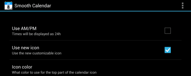 Smooth Calendar is a great option for anyone who doesn't want to have to fiddle with lots of settings.