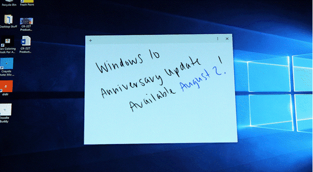 Windows 10 Anniversary Update reminder