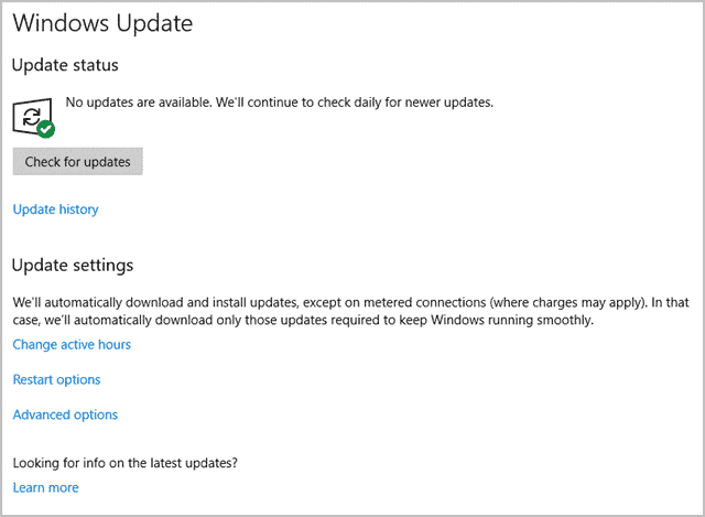 Windows Update in Windows 10 Creators Update