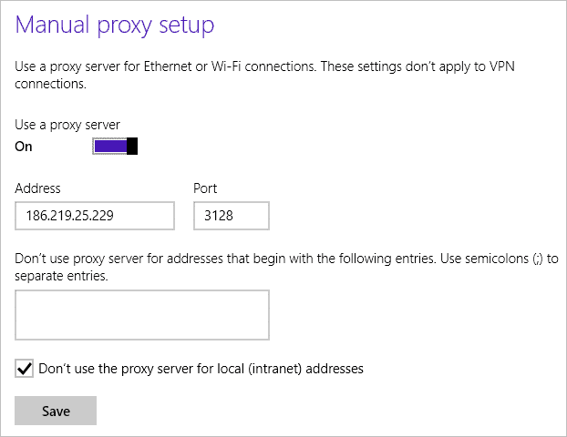 How To Set Up a Proxy Server to Surf Anonymously In Windows 8 1