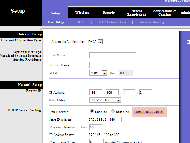 Open-the-DHCP-Reservation-table-from-a-Linksys-router