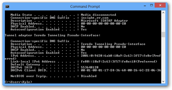 windows-ipconfig-router-settings
