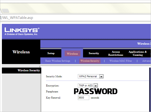 Set-or-change-a-wireless-password-on-a-Linksys-router