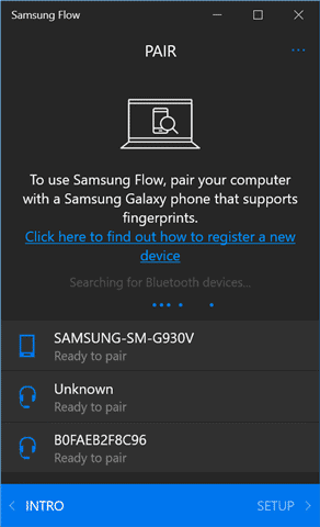 Locate your phone in Samsung Flow