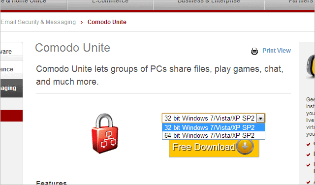 Download-Comodo-Unite