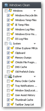 Clean-Windows-Options