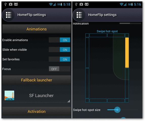 android-homeflip-launcher-settings