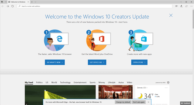 Welcome to the Windows 10 Creators Update
