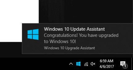Congratulations! You have upgraded to Windows 10!