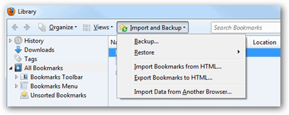 Import-and-Backup-Firefox-Bookmarks