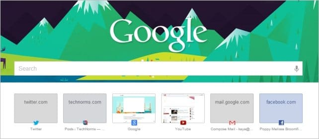 Viewing-Google-Now-New-Tab-Page