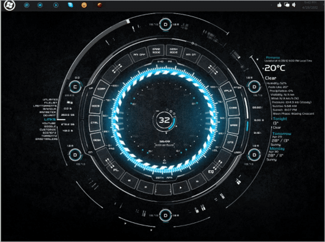 tech-a-rainmeter-skin