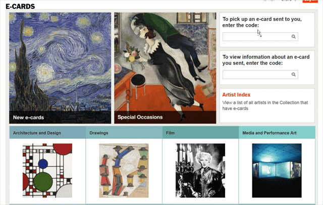 main-page-for-moma-e-cards-site