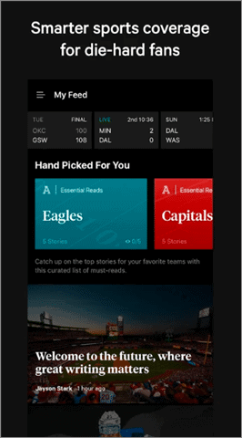 the athletic best sports apps