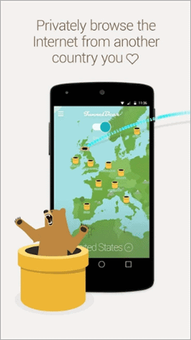 tunnelbear best vpn for android