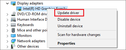 Update the graphics driver to fix computer fan loud