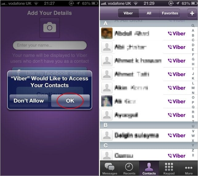 Viewing-Contacts-on-Viber