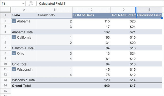 View calculated field