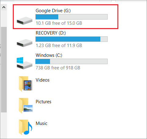 Access Google Drive from PC