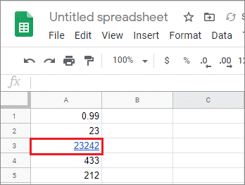 view the google sheets hyperlink