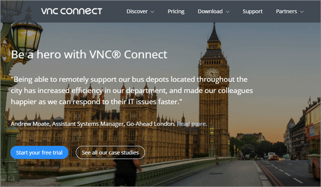 vnc connect programs like teamviewer