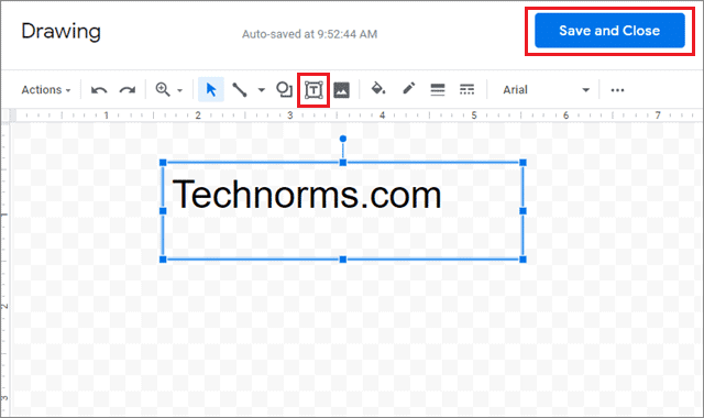 Select the text to watermark google docs