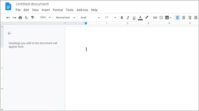 Open a Doc to watermark google docs