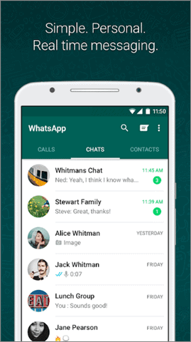 whtasapp messenger android auto apps